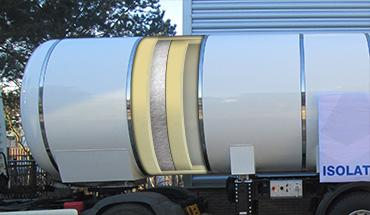 Cold insulation of CO2 trailers and tankers